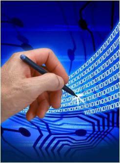 ilustrace elektronického podpisu